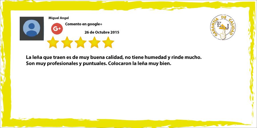 Miguel Angel nos comenta su satisfación