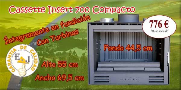 casete para chimeneas funcional y compacto