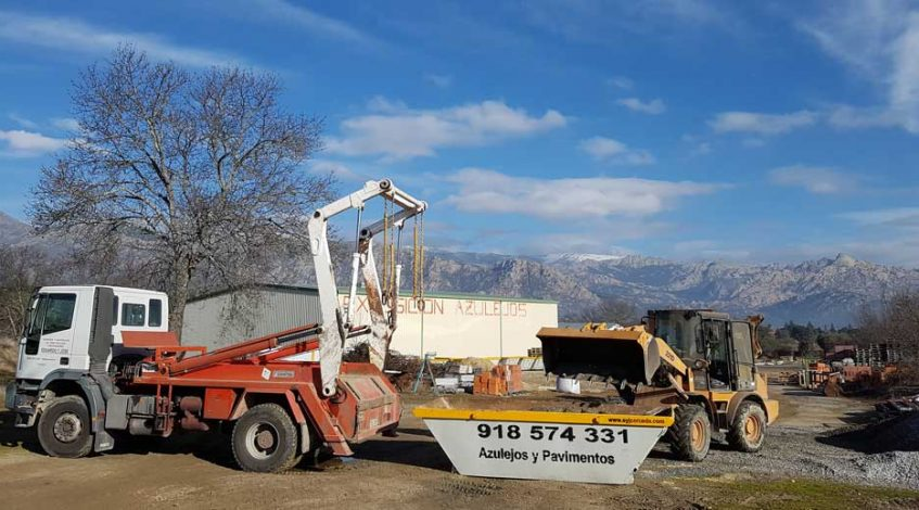 Alquiler de contenedores de escombro en moralzarzal